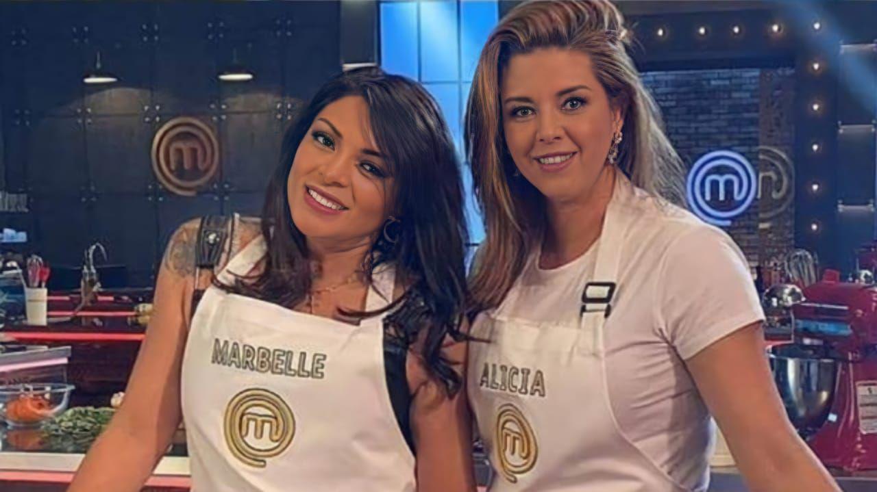 Alicia Machado y Marbelle en la cocina de MasterChef