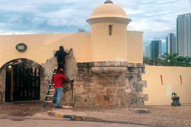 """""""Vamos a concertar las acciones de restauración"""": MinCultura sobre muralla pintada"""