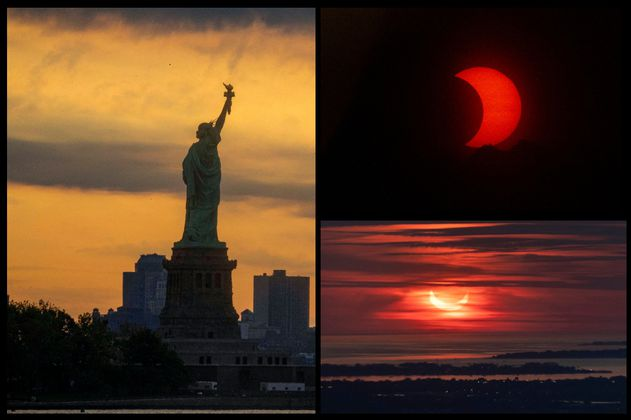 Eclipse Solar: las impresionantes fotos que dejó el primer eclipse del 2021