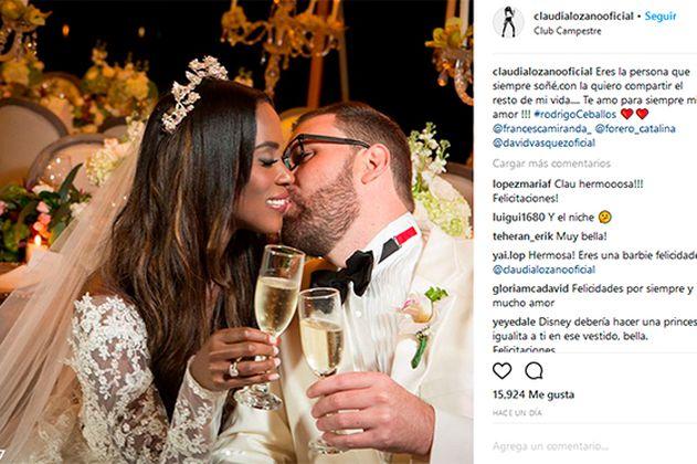 Claudia Lozano comparte fotos de su matrimonio