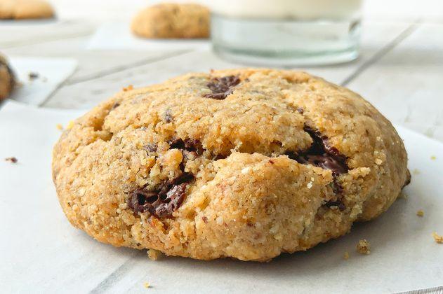 Receta: galletas con chispas de chocolate y sin azúcar ni harina refinada