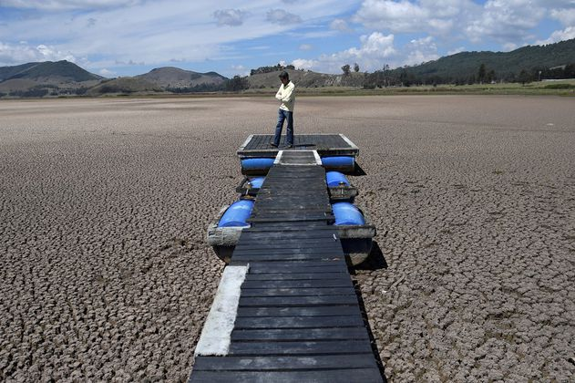 En fotos: la sequía que está acabando con la laguna de Suesca