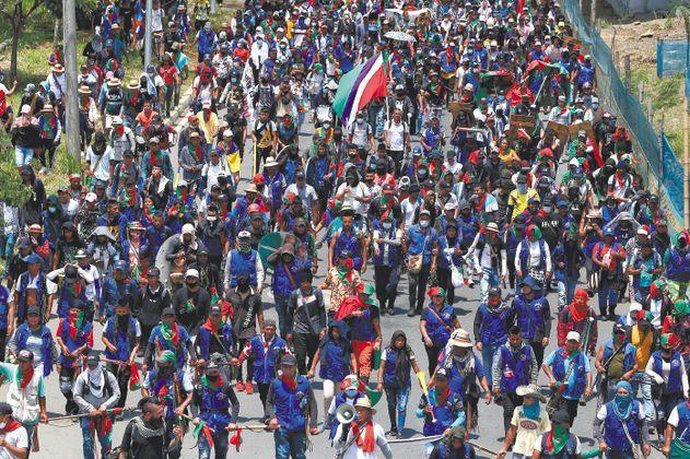 La minga indígena llegará este viernes a Bucaramanga y el 20 de julio a Bogotá