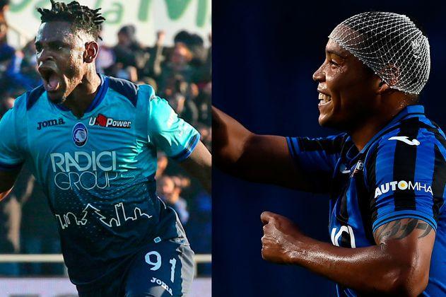 Duván Zapata y Luis Fernando Muriel, la dupla goleadora del Atalanta