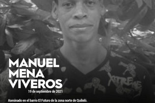 Denuncian asesinato en Quibdó de Manuel Mena, excombatiente de las Farc