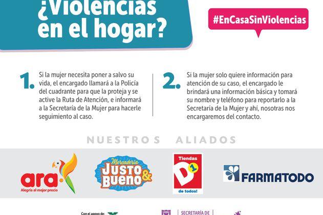 Tiendas y droguerías se convierten en espacios seguros para las mujeres en Bogotá