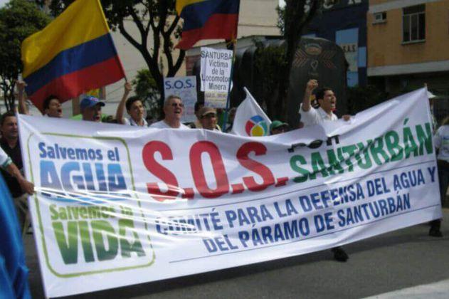 La marcha por la defensa de Santurbán en Bogotá que no pudo hacerse por el coronavirus
