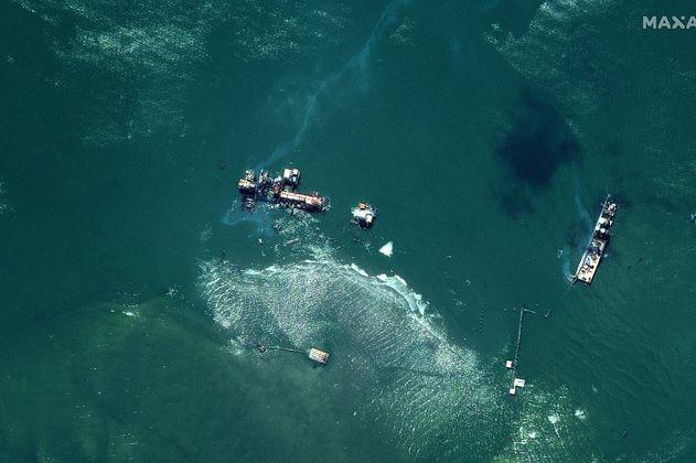 El derrame de petróleo que provocó el paso del Huracán Ida en el Golfo de México