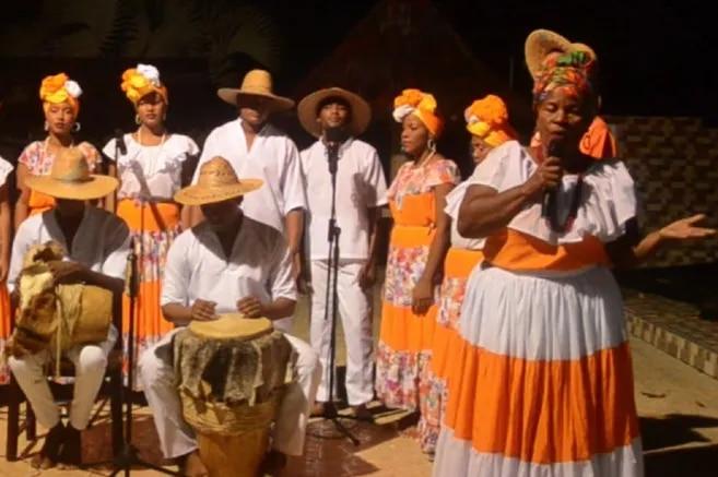 Parte del colectivo musical Pal Lereo Pabla, que participó en el XXXII Festival Nacional del Bullerengue de Necoclí.