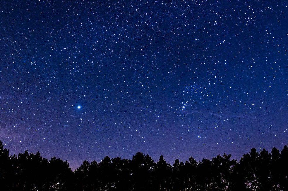 Astrología, astronomía, espacio, estrella de Belén, conjunción.  Saturno y Júpiter
