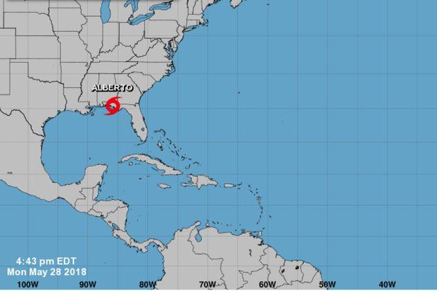 LLegó Alberto, el primer huracán de la temporada en el Atlántico