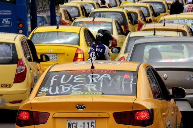 Taxistas resistentes al cambio