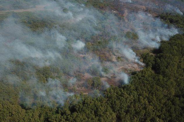 Arde nuevamente el área protegida Vía Parque Isla de Salamanca