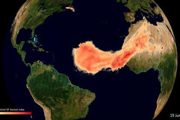 """Así se ve """"Godzilla"""", la nube de polvo del Sahara, desde el espacio"""