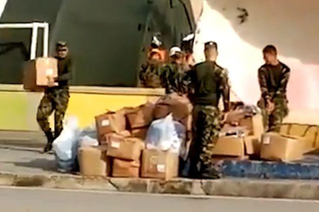 Militares que habrían robado ayudas humanitarias para Providencia fueron sancionados