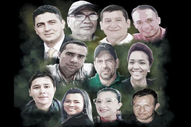 Los 11 líderes de Arauca que la Fiscalía señala de apoyar a las disidencias