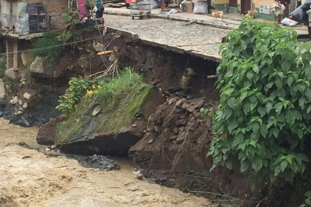 Al menos 500 familias damnificadas por lluvias en Vigía del Fuerte (Antioquia)