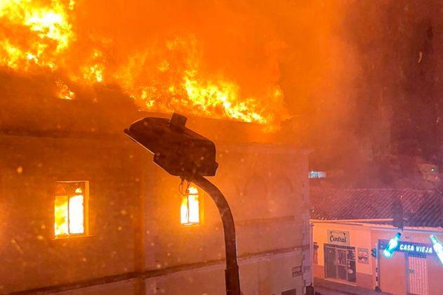 Paro nacional en Tuluá: ¿Qué se sabe del incendio al Palacio de Justicia de este municipio?