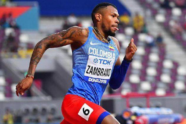 Anthony Zambrano ganó la final de los 400 metros de la Golden Gala