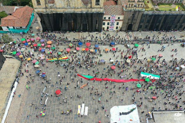 De manera pacífica finalizan las movilizaciones de este miércoles en Bogotá