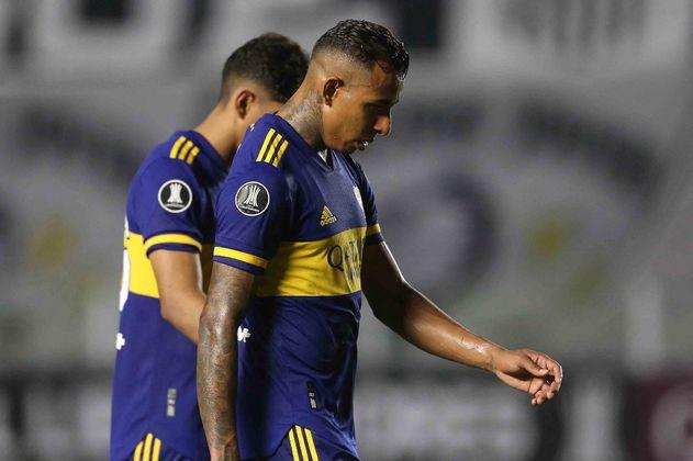 Copa Libertadores: con Sebastián Villa todo el partido, Boca perdió ante Santos