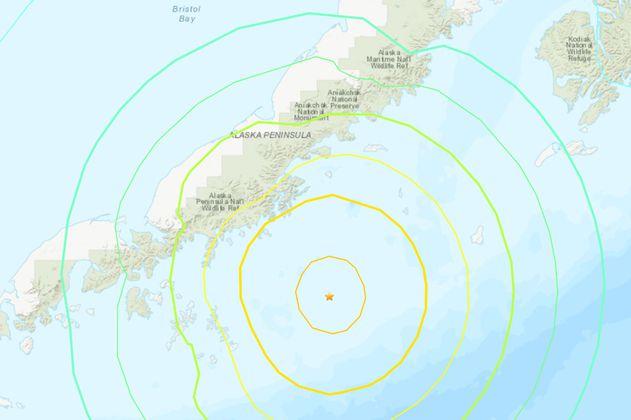 Un terremoto de magnitud 8,2 sacudió las costas de Alaska