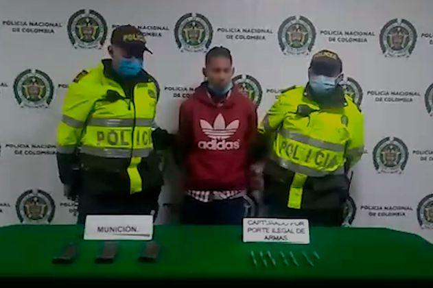 Capturan hombre con munición para fusil en el sur de Bogotá