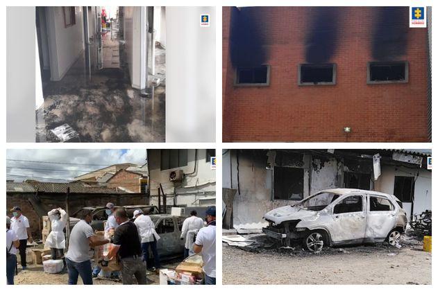 """El fiscal Barbosa calificó como """"salvajada"""" la destrucción de la URI de la Fiscalía en Popayán"""