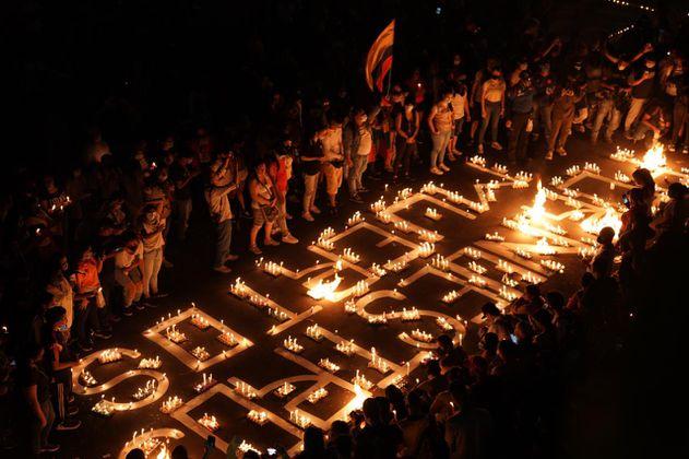 Cali homenajea a quienes perdieron la vida durante el paro