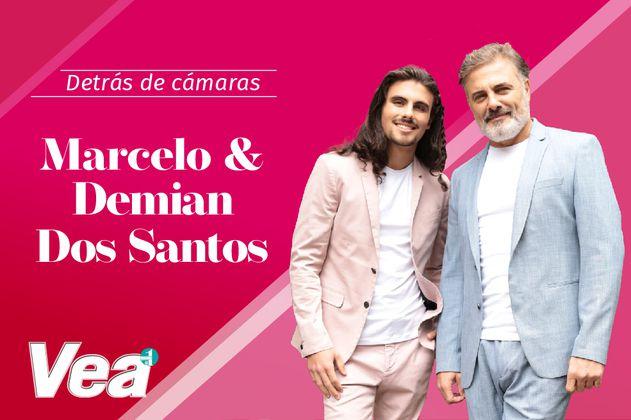 Detrás de cámaras con Marcelo Dos Santos y su hijo Demian