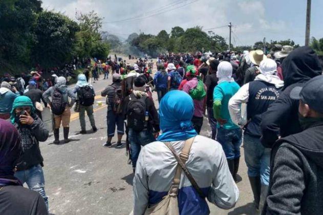 Bloqueo en la vía Panamericana deja un saldo de 13 heridos