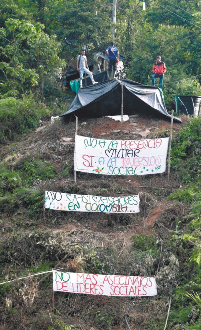 Asentamiento campesino en zona rural de Hacarí, Norte de Santander.