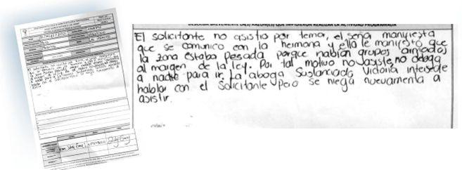 Esta constancia la escribió Karen Zulay Garay el 26 de mayo, sobre un predio de la vereda Palmeras, en Mesetas.