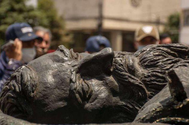 Estatua de Gonzalo Jiménez de Quesada será reubicada en el Museo de Bogotá