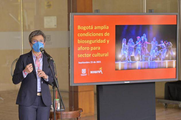 En Bogotá se aumentó al 75% el aforo para actividades de entretenimiento y cultura