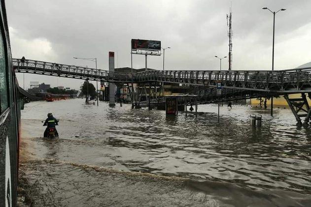 Bogotá inundada: reportan emergencias en toda la ciudad tras fuertes lluvias
