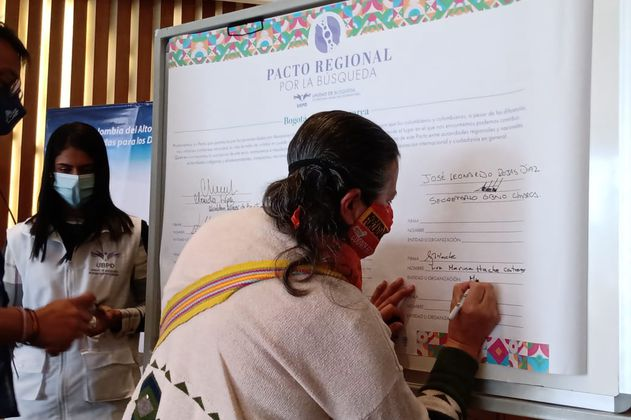 Se firmó el pacto para buscar a los desaparecidos en Bogotá y Cundinamarca
