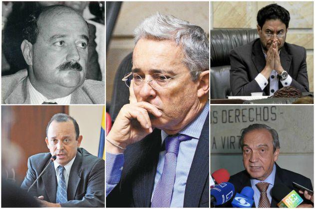 Los personajes claves del proceso contra el senador Álvaro Uribe Vélez