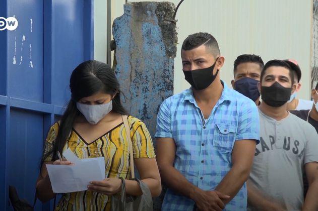 Nicaragüenses exiliados exigen el regreso de la democracia en su país