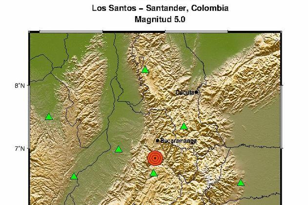 Sismo de magnitud 5.0 se sintió en varias zonas de Colombia