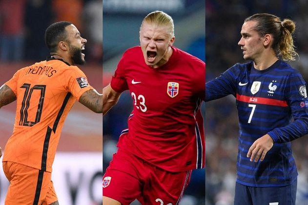Haaland, Griezmann y Depay, las figuras de la jornada en la eliminatoria europea