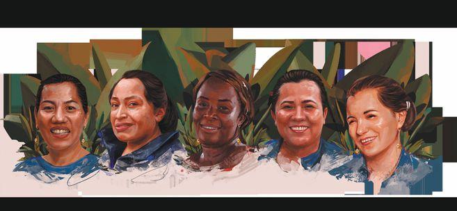 Desde la Serranía del Perijá, en el Cesar, hasta el volcán Cumbal, en Nariño, cinco mujeres son símbolo de resistencia pacífica, luchan por la equidad de género y construyen paz en sus territorios. Conozca sus historias.