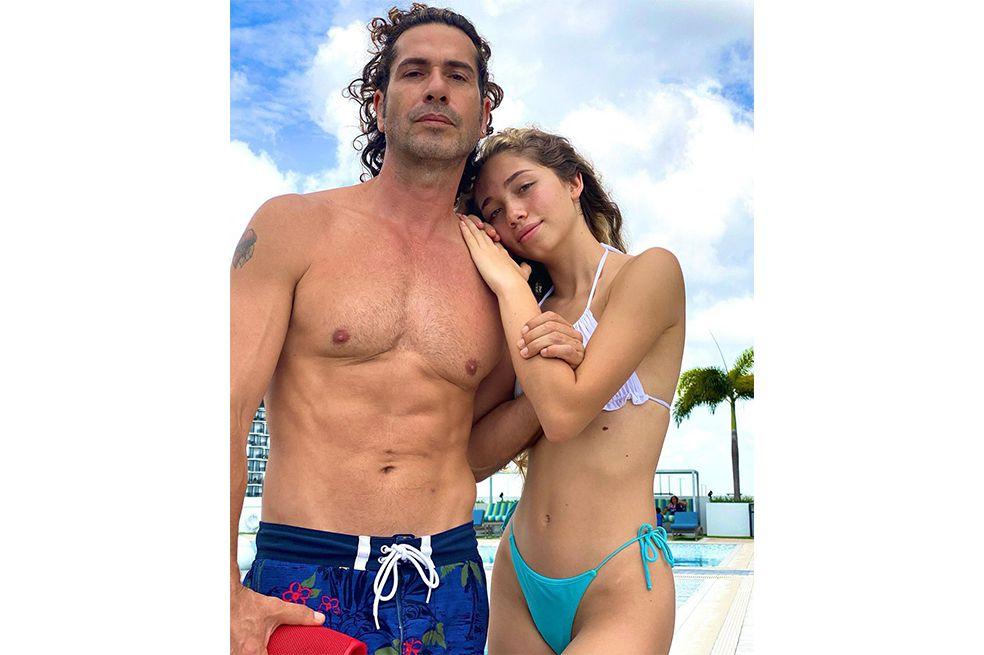 Gregorio Pernía y su hija Luna
