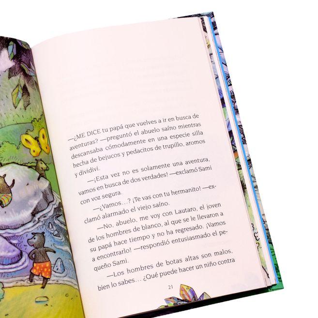 """Fragmento de """"Sami el saíno y la búsqueda de dos verdades"""". El libro, de la Editorial Panamericana, se puede conseguir en las tiendas a nivel nacional de esta cadena de papelerías."""