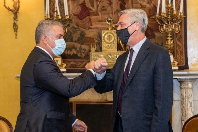 El presidente de Colombia, Iván Duque, se reunió con Filippo Grandi, Alto Comisionado de las Naciones Unidas para los Refugiados.