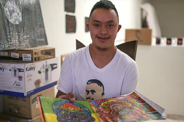 Franco Parra, el joven colombiano con síndrome de Down que quiere ser maestro de arte