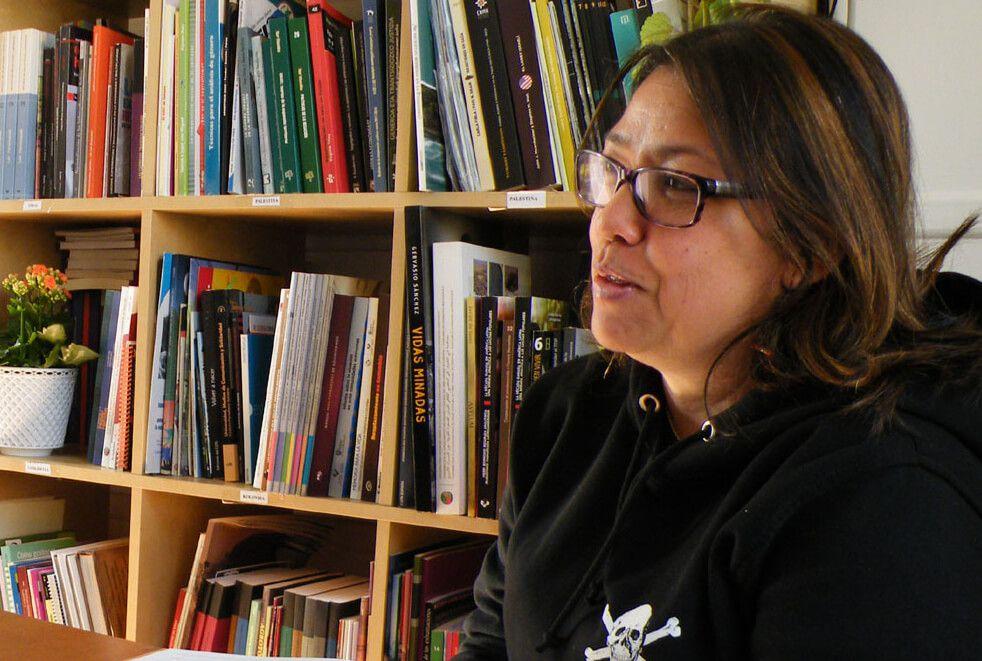 Adriana Arboleda, abogada de la Corporación Jurídica Libertad e integrante de la Mesa de Trabajo y del Movimiento Nacional de Víctimas de Crímenes de Estado (Movice) en Antioquia.