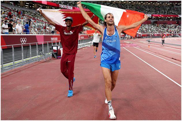 El oro compartido entre Italia y Catar en el salto alto