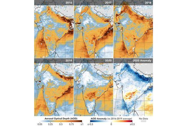 La contaminación del aire en India bajó un 40-50 % durante el confinamiento