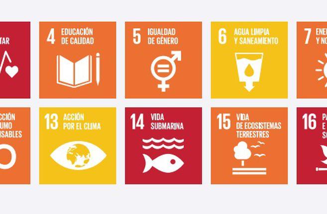 Cumplimiento de los ODS en Colombia. En rojo, objetivos con rezago crítico; naranja, rezago significativo; amarillo, rezago moderado; verde, objetivo alcanzado.